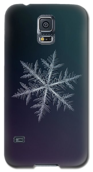 Galaxy S5 Case featuring the photograph Snowflake Photo - Neon by Alexey Kljatov
