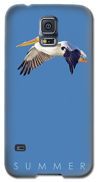 Galaxy S5 Case featuring the drawing Blue Series 003 Summer by Rob Snow