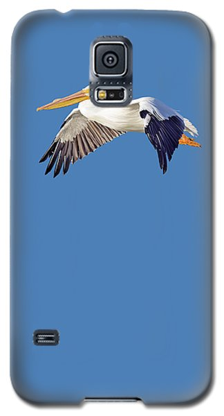Galaxy S5 Case featuring the mixed media Blue Series 003 by Rob Snow