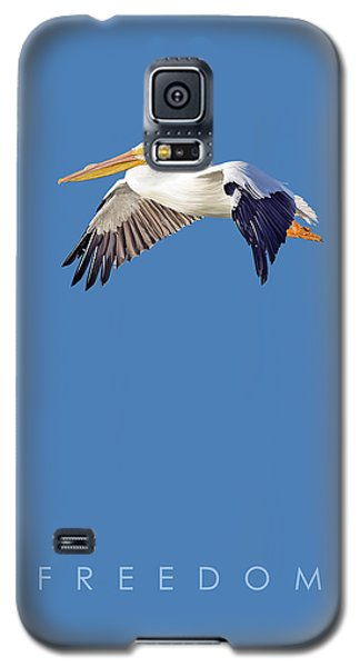 Galaxy S5 Case featuring the digital art Blue Series 003 Freedom by Rob Snow