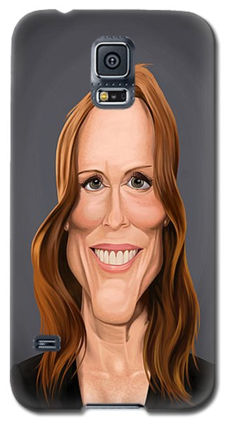 Galaxy S5 Case featuring the drawing Celebrity Sunday - Julianne Moore by Rob Snow