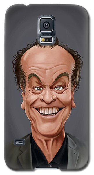 Galaxy S5 Case featuring the drawing Celebrity Sunday - Jack Nicholson by Rob Snow