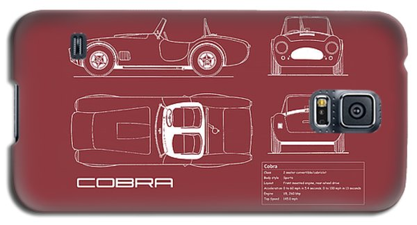 Ac Cobra Blueprint - Red Galaxy S5 Case