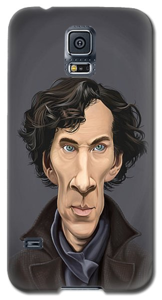 Galaxy S5 Case featuring the drawing Celebrity Sunday - Benedict Cumberbatch by Rob Snow