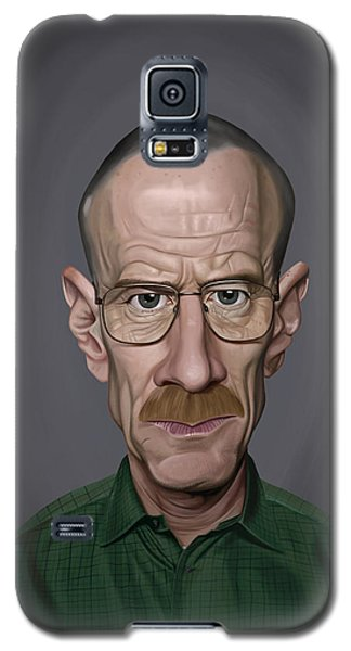 Galaxy S5 Case featuring the drawing Celebrity Sunday - Bryan Cranston by Rob Snow