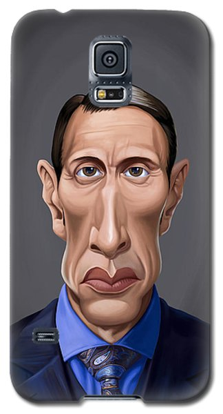 Galaxy S5 Case featuring the drawing Celebrity Sunday - Mads Mikkelsen by Rob Snow