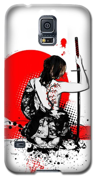 Trash Polka - Female Samurai Galaxy S5 Case
