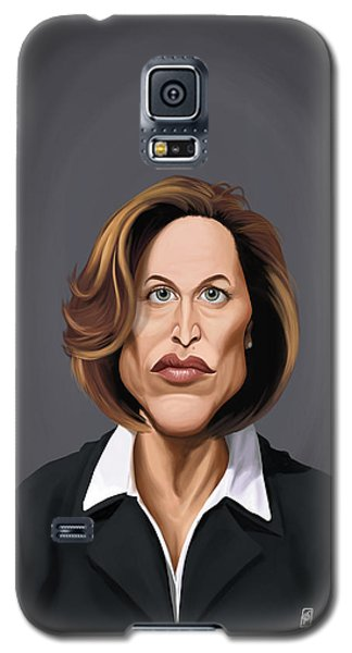 Galaxy S5 Case featuring the drawing Celebrity Sunday - Gillian Anderson by Rob Snow