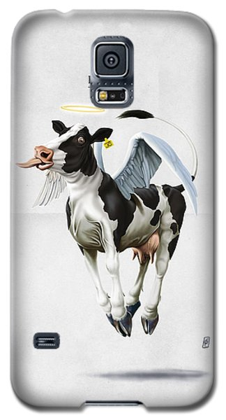 Galaxy S5 Case featuring the drawing Holy Cow by Rob Snow
