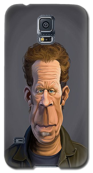 Galaxy S5 Case featuring the drawing Celebrity Sunday - Tom Waits by Rob Snow