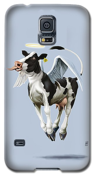 Galaxy S5 Case featuring the drawing Holy Cow Colour by Rob Snow