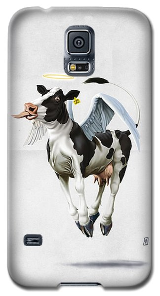Galaxy S5 Case featuring the drawing Holy Cow Wordless by Rob Snow