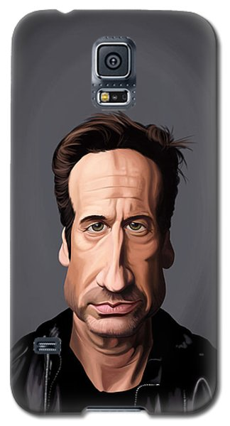 Galaxy S5 Case featuring the drawing Celebrity Sunday - David Duchovny by Rob Snow