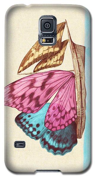 Butterfly Ship Galaxy S5 Case by Eric Fan
