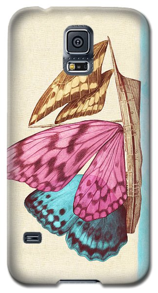 Butterfly Galaxy S5 Case - Butterfly Ship by Eric Fan