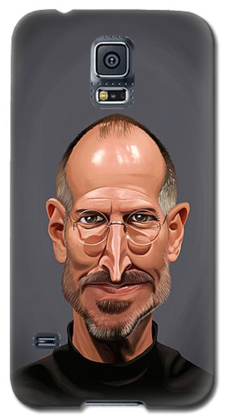 Galaxy S5 Case featuring the drawing Celebrity Sunday - Steve Jobs by Rob Snow