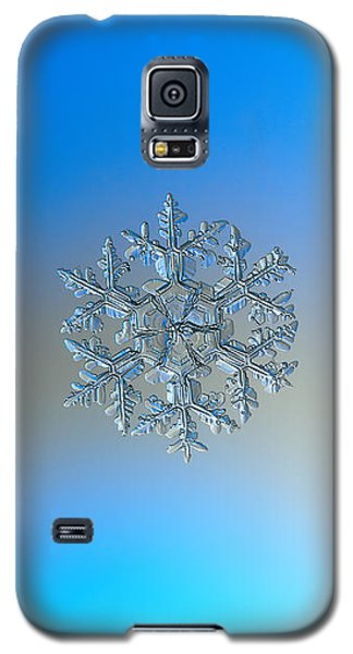 Galaxy S5 Case featuring the photograph Snowflake Photo - Gardener's Dream by Alexey Kljatov