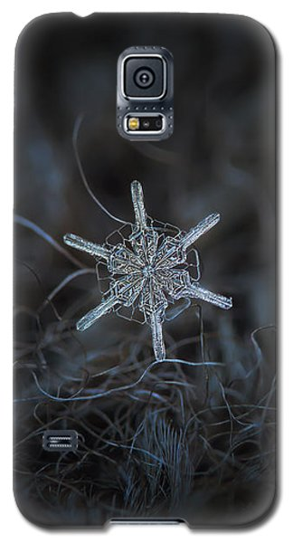 Galaxy S5 Case featuring the photograph Snowflake Photo - Steering Wheel by Alexey Kljatov