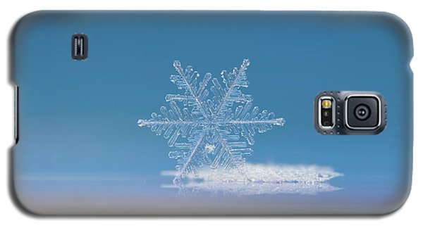 Galaxy S5 Case featuring the photograph Snowflake Photo - Cloud Number Nine by Alexey Kljatov