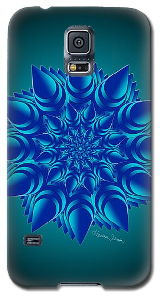 Fractal Flower In Blue Galaxy S5 Case