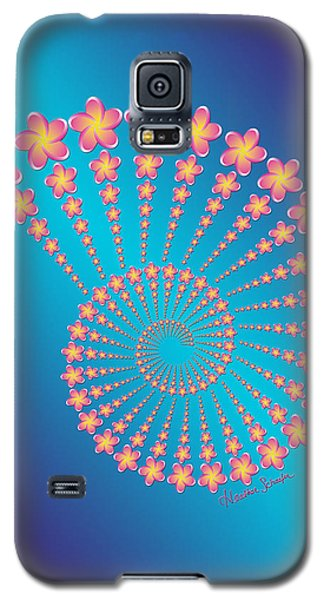 Denise's Frangipani  Spiral Shell Galaxy S5 Case