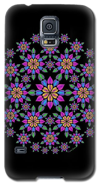 Wreath Of Heart Flowers Galaxy S5 Case