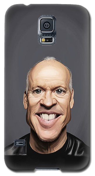 Galaxy S5 Case featuring the drawing Celebrity Sunday - Michael Keaton by Rob Snow