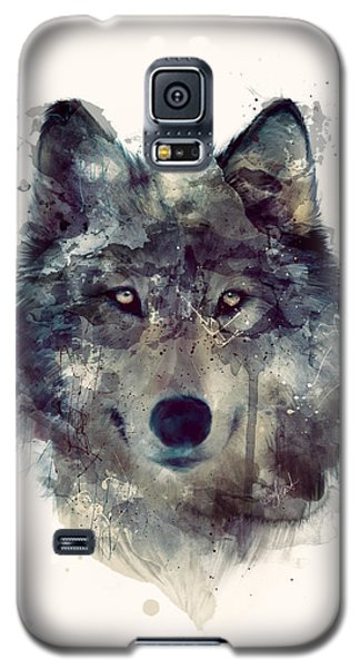 Wildlife Galaxy S5 Case - Wolf // Persevere by Amy Hamilton