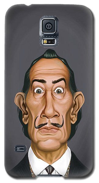 Galaxy S5 Case featuring the drawing Celebrity Sunday - Salvador Dali by Rob Snow