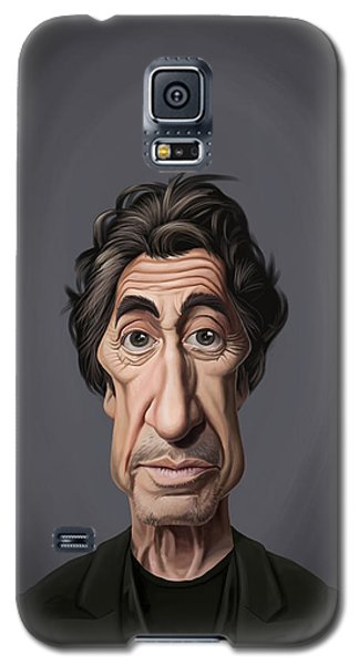 Galaxy S5 Case featuring the drawing Celebrity Sunday - Al Pacino by Rob Snow