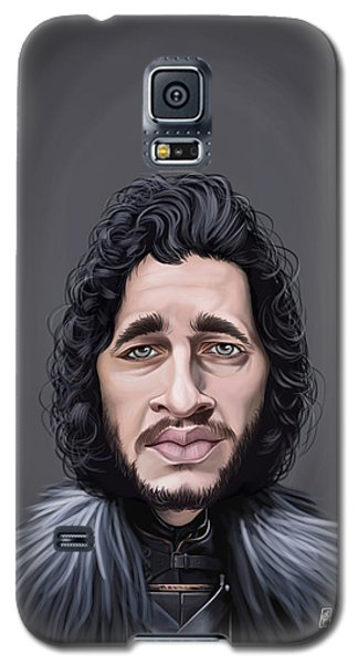 Galaxy S5 Case featuring the drawing Celebrity Sunday - Kit Harington by Rob Snow