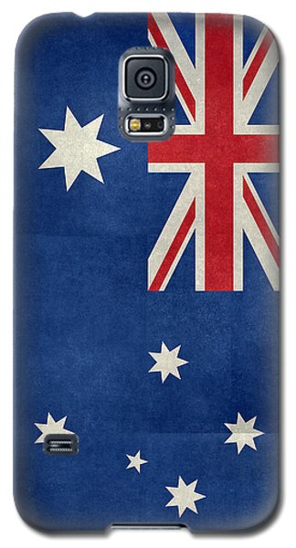 Australian Flag Vintage Retro Style Galaxy S5 Case by Bruce Stanfield