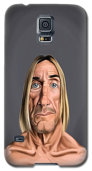 Galaxy S5 Case featuring the drawing Celebrity Sunday - Iggy Pop by Rob Snow