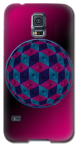 Spherized Pink Purple Blue And Black Hexa Galaxy S5 Case