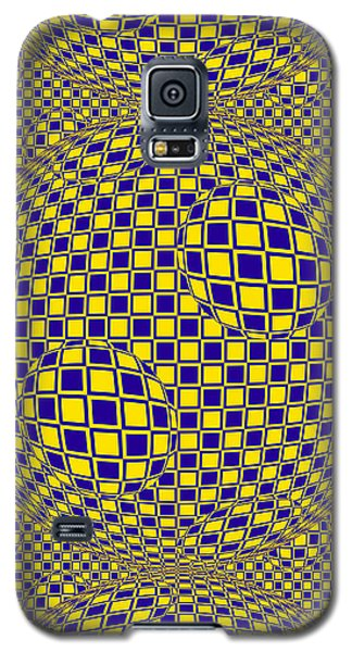 Purple And Yellow Sphere Untitled Galaxy S5 Case