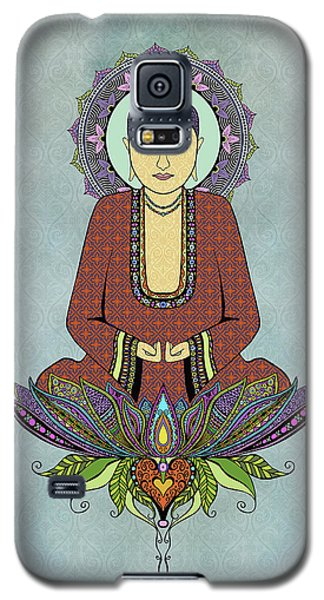 Galaxy S5 Case featuring the drawing Electric Buddha by Tammy Wetzel