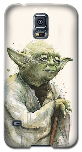 Star Wars Galaxy S5 Case - Yoda Portrait by Olga Shvartsur
