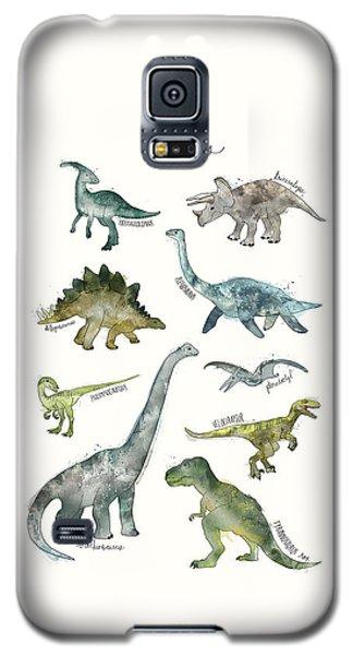 Dinosaurs Galaxy S5 Case by Amy Hamilton
