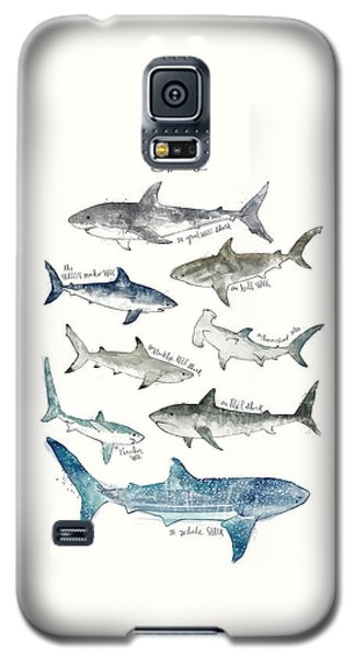 Sharks Galaxy S5 Case by Amy Hamilton