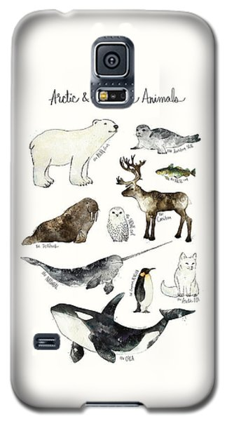 Arctic And Antarctic Animals Galaxy S5 Case by Amy Hamilton
