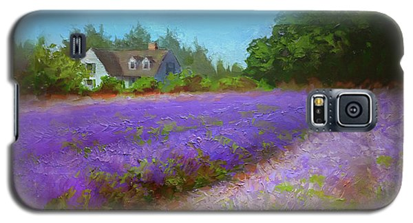 Impressionistic Lavender Field Landscape Plein Air Painting Galaxy S5 Case