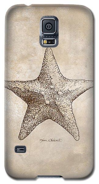 Distressed Antique Nautical Starfish Galaxy S5 Case