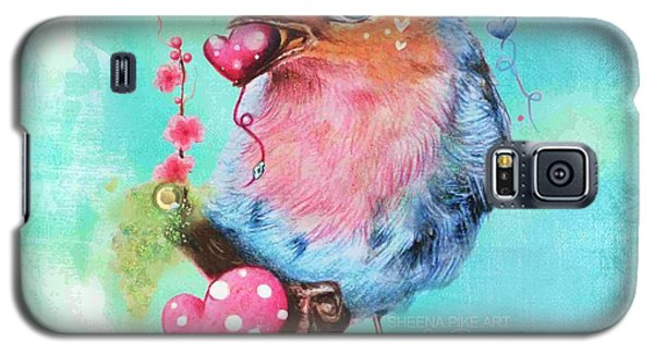 Galaxy S5 Case featuring the mixed media Love Bird by Sheena Pike