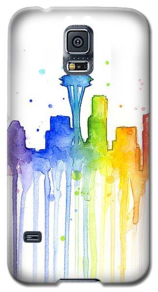 Seattle Rainbow Watercolor Galaxy S5 Case
