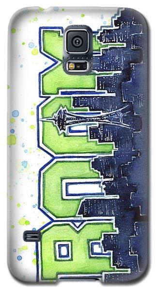 Seattle Galaxy S5 Case - Seattle 12th Man Legion Of Boom Painting by Olga Shvartsur