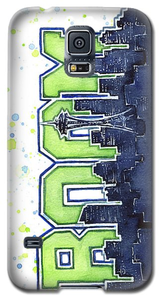 Seattle 12th Man Legion Of Boom Painting Galaxy S5 Case