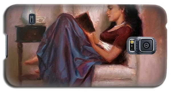 Jaidyn Reading A Book 2 - Portrait Of Woman Galaxy S5 Case