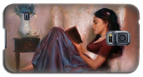 Jaidyn Reading A Book 2 - Portrait Of Woman Galaxy S5 Case