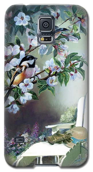 Chickadees In Blossom Tree Galaxy S5 Case