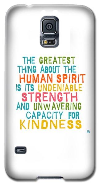 The Human Spirit Galaxy S5 Case
